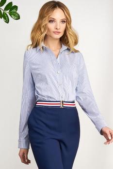 Блузка Bazalini 3064 Бело-голубая полоска