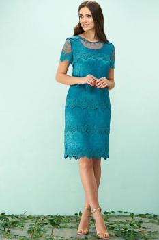 Платье Bazalini 3148-1 тёмно-бирюзовый