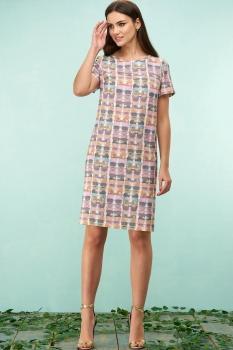 Платье Bazalini 3168 разноцветные очки