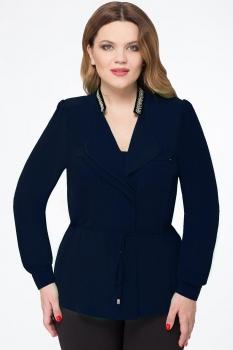 Блузка Дали 1367-2 темно-синий