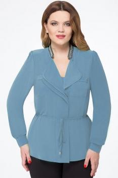 Блузка Дали 1367 бледно-голубой