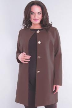 Пальто Дали 340-1 серо - коричневый