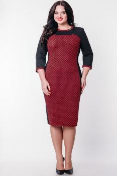 Платье Дали 445 красно-серый