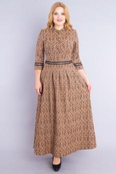 Платье Дали 530-1 коричневый