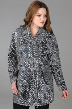 Пальто Deesses 1067 чёрно-белый