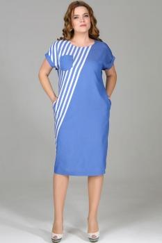 Платье Deesses 1081 голубой джинс