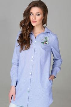 Блузка Deesses 1109 бело-голубой