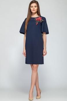 Платье Deesses 1213 тёмно-синий
