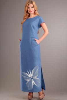 Платье Диамант 1090-11 голубой