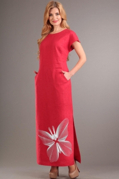 Платье Диамант 1090-12 красный