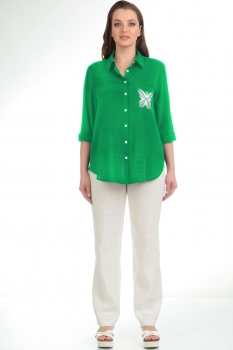 Блузка Диамант 1172-2 зелёный