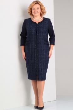 Платье Диамант 1228 тёмно-синий