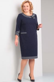 Платье Диамант 1243 тёмно-синий