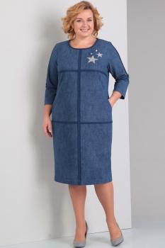 Платье Диамант 1250 синий