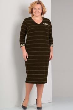 Платье Диамант 1251-2 коричневый