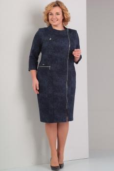 Платье Диамант 1256-1 тёмно-синий