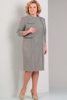 Платье Диамант 1256 светло-серый