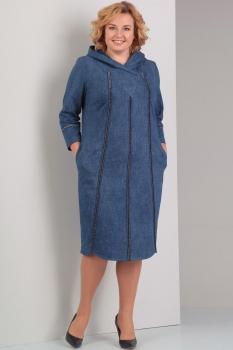 Платье Диамант 1257 синий