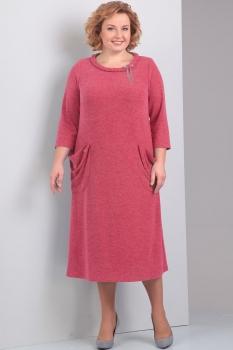 Платье Диамант 1263-1 коралл