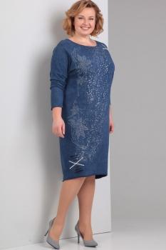 Платье Диамант 1267 синий