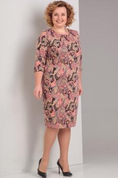 Платье Диамант 1274 розовый