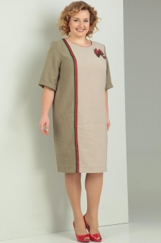 Платье Диамант 1276 беж, хаки
