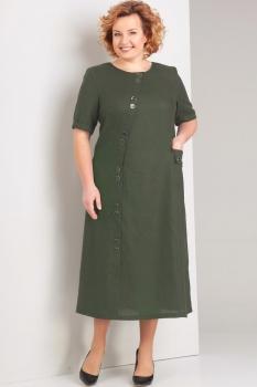 Платье Диамант 1280-2 хаки