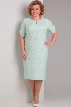 Платье Диамант 1284-2 бирюза