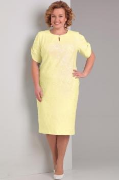 Платье Диамант 1284-3 жёлтый