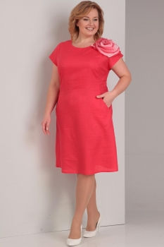 Платье Диамант 1288 красный