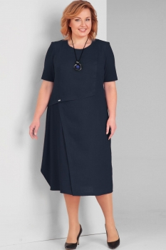 Платье Диамант 1289-1 тёмно-синий