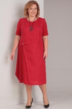 Платье Диамант 1289 красный