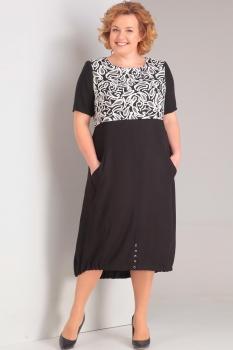 Платье Диамант 1292 черно-белый