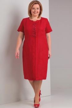 Платье Диамант 1293-1 красный