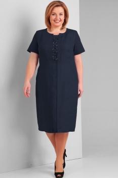 Платье Диамант 1293-2 тёмно-синий