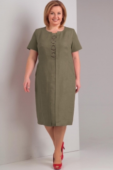 Платье Диамант 1293 хаки