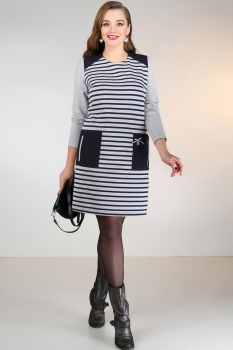 Платье Dilanavip 1055 серый
