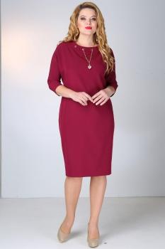 Платье Dilanavip 1062-3 бордовый