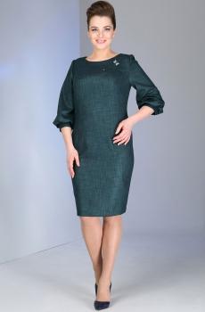 Платье Dilanavip 1078 изумрудный-оттенок