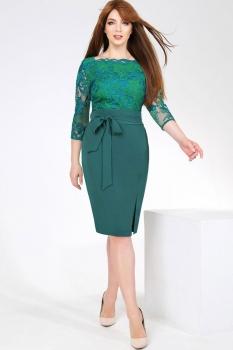 Платье Dilanavip 1119-2 зеленые-тона