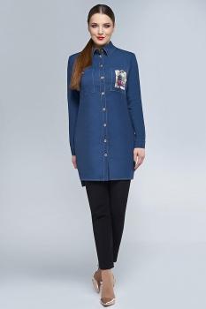 Блузка Dilanavip 1142 синий