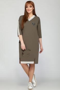 Платье Dilanavip 1175-1 хаки