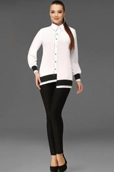 Блузка DiLiaFashion 0093 белый с черным