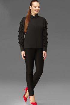 Блузка DiLiaFashion 0096-1 черный