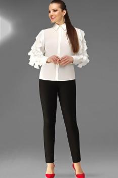 Блузка DiLiaFashion 0096 белый