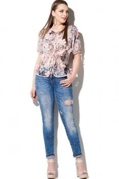 Блузка DiLiaFashion 110-1 розовый