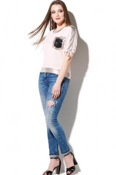 Блузка DiLiaFashion 111 розовый