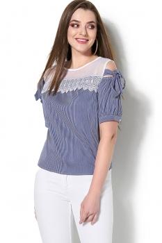 Блузка DiLiaFashion 118 серо-голубой