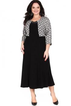 Платье Diomel 442 серый с черным