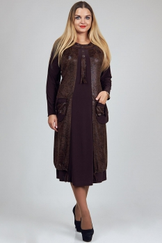 Платье Diomel 459-6 коричневый